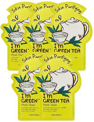 Tony Moly Tonymoly I'm Green Tea Sheet Mask 5 Pack