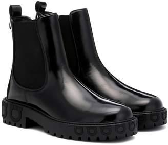 Salvatore Ferragamo Gancini patent leather boots