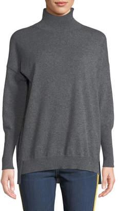 Agnona Eternals 12-GG Cashmere Geo-Slit Dropped-Shoulder Turtleneck Sweater