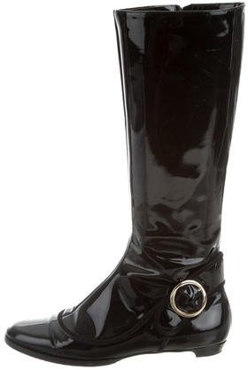 Jimmy Choo Jimmy Choo Patent Leather Riding Boots