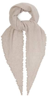 Allude Cashmere Triangle Scarf - Womens - Grey