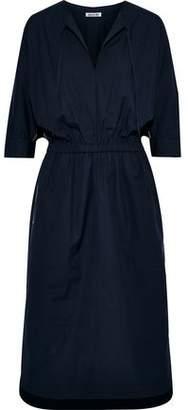 Jason Wu Gathered Cotton-blend Poplin Midi Dress