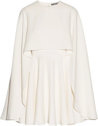 Alexander McQueen - Cape-back Silk-cady Mini Dress - Ivory $4,195 thestylecure.com