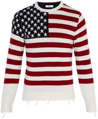 Valentino Flag Cashmere Sweater - Mens - Red