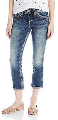 Silver Jeans Women's Suki Denim Capri $89 thestylecure.com