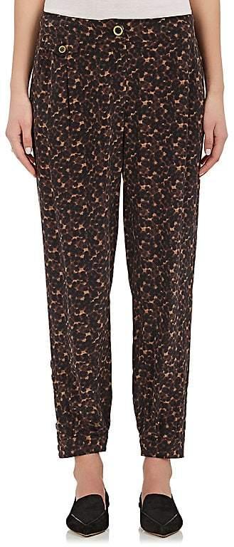 Womens Leopard-Print Georgette Silk Harem Pants Maison Mayle IAou8w6S