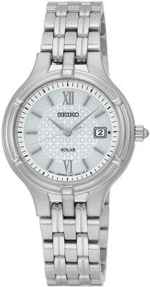 Seiko Womens Stainless Steel Solar Bracelet Watch SUT217 $215 thestylecure.com