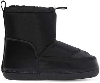 DSQUARED2 Nylon & Faux Shearling Snow Boots