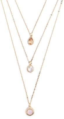 Forever 21 Sparkling Faux Gem Charm Necklace Set