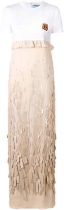 Prada embroidered chiffon dress