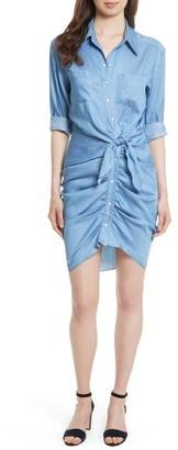 Women's Veronica Beard Sierra Ruched Shirtdress $495 thestylecure.com