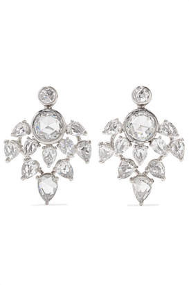 Fred Leighton Collection 18-karat White Gold Diamond Earrings