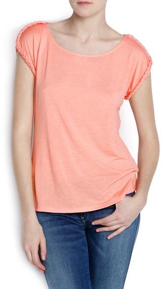 MANGO Braided Details T-Shirt