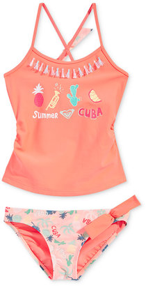 Roxy 2-Pc. Summer Cuba Sandy Break Tankini Set with Tassels, Little Girls (2-6X) $42 thestylecure.com