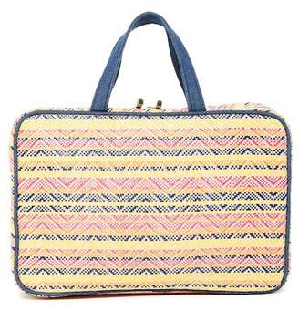 Kestrel Straw Chevron Weekend Organizer Bag - Multi