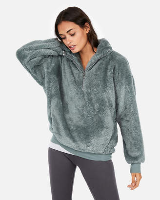 Express One Eleven Fleece Quarter-Zip Sweatshirt