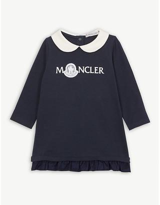 Moncler Lace logo cotton dress 3-36 months