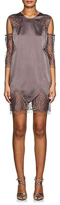 Mason by Michelle Mason WOMEN'S SILK CHARMEUSE & LACE SHIFT DRESS
