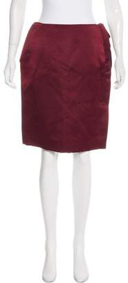 Lanvin Satin Pencil Skirt