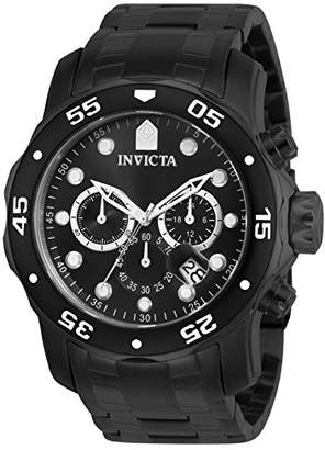 Invicta Men's 0076 Pro Diver Collection Chronograph Ion-Plated Stainless Steel Watch
