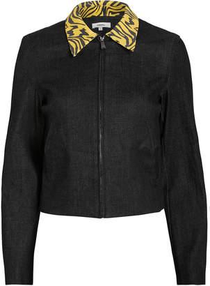 Miaou Kai Zebra Collar Denim Jacket