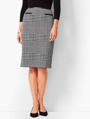 Talbots Ponte Glen Plaid Pencil Skirt