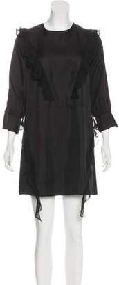 Thomas Wylde Long Sleeve Mini Dress