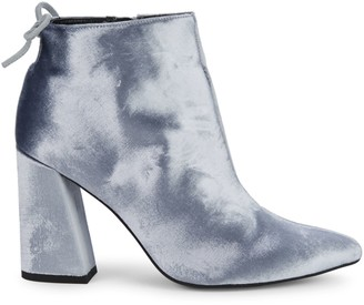 Stuart Weitzman Velvet Point Toe Ankle Boots