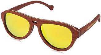 Earth Wood Clearwater Polarized Aviator Sunglasses