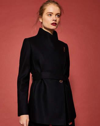 Ted Baker KEYLA Short wrap cashmere-blend coat