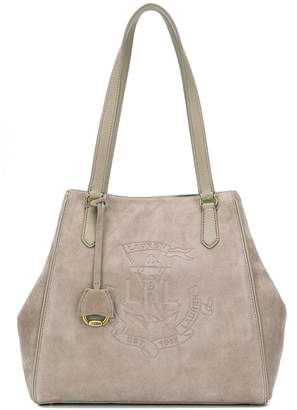 Lauren Ralph Lauren Anchor suede tote bag