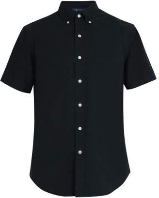 Polo Ralph Lauren - Logo Embroidered Short Sleeved Cotton Shirt - Mens - Black