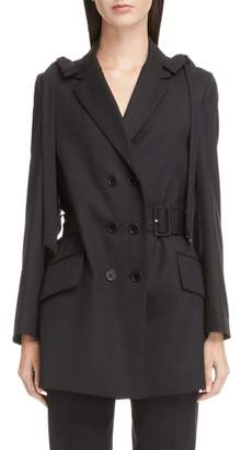 Simone Rocha Bow Shoulder Stretch Wool Jacket
