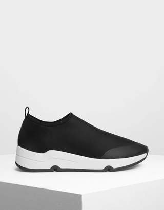 Charles & Keith Lycra Slip On Sneakers