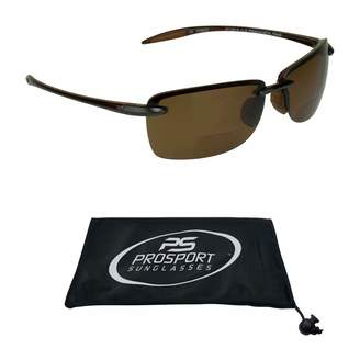 bf371bd9f4 proSPORT Polarized Bifocal Reading Sunglasses Nearly Invisible Reader Line  for Men and Women
