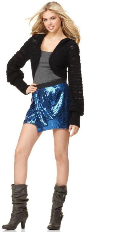 Femme for DKNY Skirt, Sequin Mini