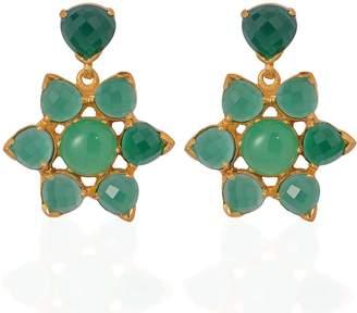 Emma Chapman Jewels - Elara Chrysoprase Green Onyx Earrings
