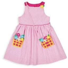 Florence Eiseman Little Girl's Stripe Seersucker Floral Dress