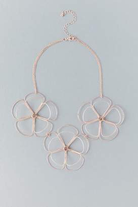 Lily Floral Statement Necklace - Rose/Gold
