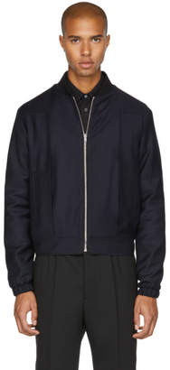 McQ Navy Pleat Bomber Jacket