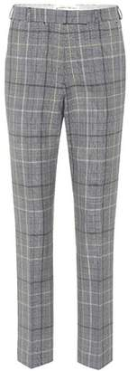 Etro Plaid wool and mohair trousers