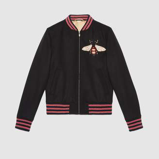 Gucci Felt jacket with bee patch