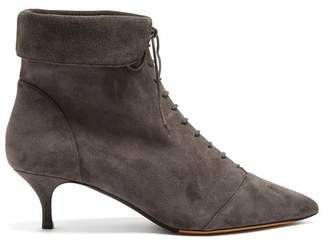 Tabitha Simmons Larkin lace-up suede ankle boots