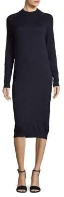 Max Mara Anselmo Knitted Silk Wool Shift Dress