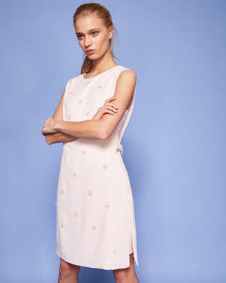 Ted Baker BETIL Bow waist embellished tunic dress