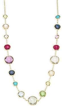 Ippolita Women's Rock Candy Gelato Semi-Precious Multi-Stone & 18K Yellow Gold Mini Station Necklace