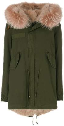 Mr & Mrs Italy trimmed hood mini parka