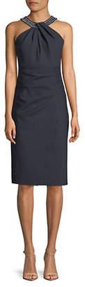 Alex Evenings Embellished Halter Dress