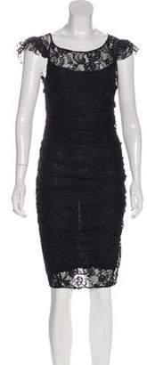 Dolce & Gabbana Short Sleeve Midi Dress Black Short Sleeve Midi Dress