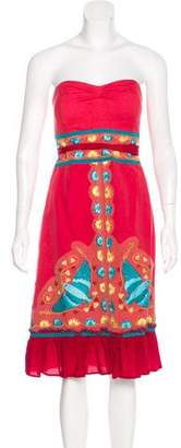 Tracy Reese Embroidered Linen Dress